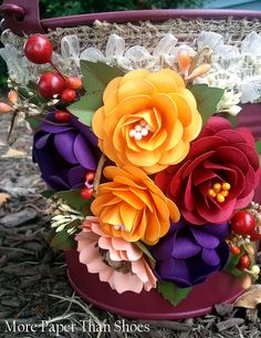 """MPTS """"Punch a Bunch"""" Class  #paperflowers #tutorials #instructions #fall #DIY #templates"""