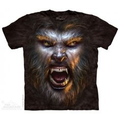 Tricouri The Mountain – Tricou Werewolf Face Monster Mountain Monsters, Steampunk, Gothic Culture, Big Face, Animal Faces, Halloween Horror, Ink Color, Dark Fantasy, Cotton Tee