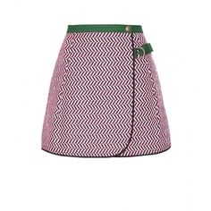 Kenzo Woven Wrap Skirt found on Polyvore