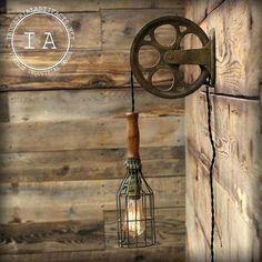 lampe murale industrielle vintage industriel en fonte poulie fil cage mal lampe murale mont applique murale industrielle ancienne