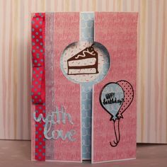 Simply Creative Make a Wish cake gate fold card by DT member Emily