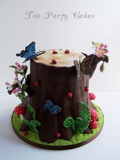 Forest Tree Trunk Cake- love this, so whimsical and every detail is perfect!