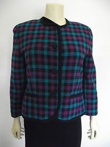 Sale Pendleton Petite 100 Virgin Wool Made in The USA Oregon Plaid 10 | eBay