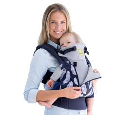 3c5e66f5d60 LILLEbaby Complete All Seasons Baby   Child Carrier - Charcoal (Grey) with  Feathers