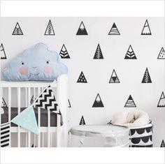10 Stickers mural tipi montagne noir : Décoration d'intérieur par mes-produits-jolis