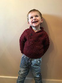 Free Knitting Pattern: Shawl Neck Aran Tweed Sweater