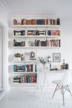 Style And Create   Work Space U0026 Book Shelf Inspiration Via Lundin.