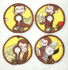 Curious George Gtube Pads G Tube Covers Mic-Key Mickey Button Bamboo Colostomy by AdorabellyDesign on Etsy
