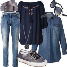 Ethno denim chic für Damen zum Nachshoppen auf Stylaholic #curvy #plussizefashion #plussize #styleinspiration #outfitideas #look #lookoftheday #fashion #trending #style #clothing  #mode #damenmode #bekleidung #stylaholic #outfit #sexy #elegant #casual #fashion