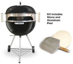 Buy this Made in USA KettlePizza Deluxe USA Pizza Oven Kit for Kettle Grills - Includes Stone and Metal Peel, KPDU-22 with deep discounted price online today.