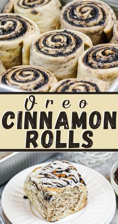 These Oreo cinnamon rolls are truly scrumptious! They're made with a dark chocolate oreo filling, and topped with a delicious vanilla glaze! Oreo Filling, Chocolate Filling, Chocolate Desserts, Chocolate Oreo, No Bake Desserts, Just Desserts, Delicious Desserts, Dessert Recipes, Yummy Food