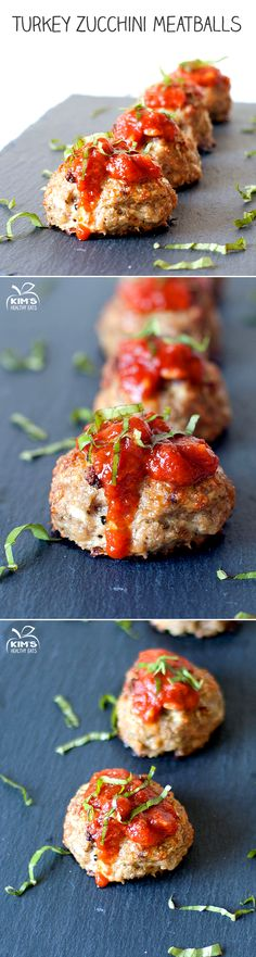 Turkey Zucchini Meatballs by kimshealthyeats #Meatballs #Turkey #Zucchini #Healthy