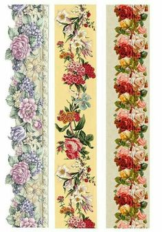 Italy Rice paper for Decoupage Decoupage Vintage, Vintage Paper, Vintage Flowers, Vintage Floral, Rice Paper Decoupage, Decoupage Printables, Diy And Crafts, Paper Crafts, Borders For Paper