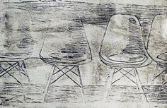 "Die Kreativschmiede [an der Zschopau] ""empty chairs"" Untertitel: ""noone coming since Corona"" Abstract, Artwork, Corona, Ballpoint Pen, Printing, Creative, Summary, Work Of Art, Auguste Rodin Artwork"