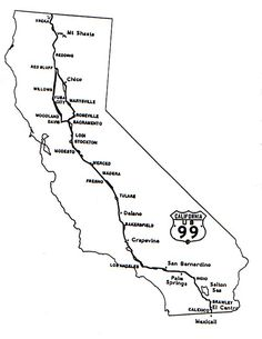 Map Of California Highway 99.182 Best California Maps Images In 2019 California Map California