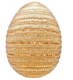 'Untitled', 2014  :  Naeem Khan.  Crystals, fabric, fibreglass 2014 Faberge Big Egg Hunt - Rockefeller Center