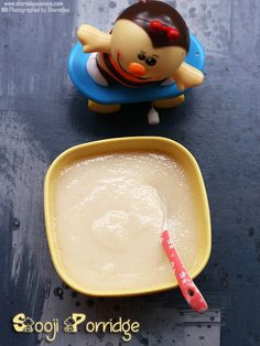 sooji porridge recipe for babies also called rava porridge-a very mild instant and easily digestible porridge that you can feed for babies after 6 months. Toddler Food, Toddler Meals, Kids Meals, Clarified Butter Ghee, Porridge Recipes, Baby Month By Month, Baby Food Recipes, Babies, Cooking