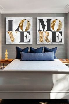 Oliver Gal Love You More Canvas Art - Set of 2  from HauteLook on Catalog Spree