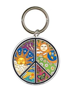Dan Morris - Peace Sign - Metal Keychain: Dan Morris's peace sticker now available in an exceptionally designed metal keychain! Dan Morris, Hippie Shop, Love The Earth, Sun Moon Stars, Hippie Peace, Hippie Outfits, Travel Accessories, All The Colors, Peace And Love