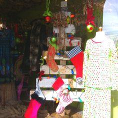 Nellie Mae Boutique, Tuscumbia, AL. Old wood Christmas tree.