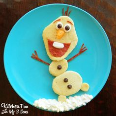 Olaf Pancakes for Breakfast from the new Disney movie Frozen!