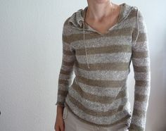 a sheer sweater would be nice for summer... thinking that angora? maybe stripe like this and gather hood in front?