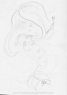 Drawing Ideas and Creativity Exercises with the Disney Classics - The Little Mermaid sketch by Hearts and Laserbeams