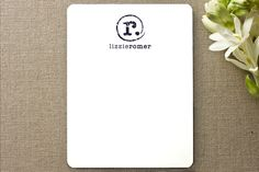 minted personalized stationary / distressed monogram