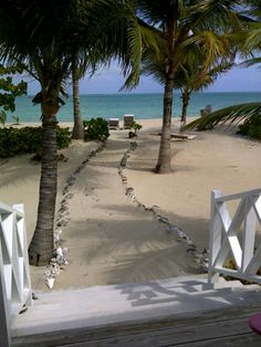 View from Mollie's front door of Coco Plum, a one bedroom beach cottage at Kamalame Cay