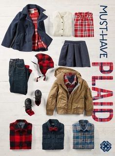 Picture a Santa picture-ready collection of this season's must-have pattern. For more plaid, visit OshKosh.