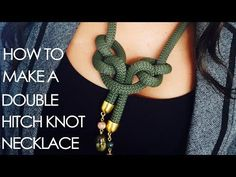 How to make a double cow hitch necklace - YouTube