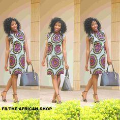 Talisma High Neck Dress van THEAFRICANSHOP op Etsy, £55,00