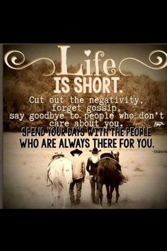 Positive thoughts: We need to be with supportive friends. They help and encourage you in a positive way. Negativity is bad for your mental emotional and physical health. So I challenge you to do something healthy and be with positive people. Rodeo Quotes, Cowboy Quotes, Equestrian Quotes, Cowgirl Quote, Western Quotes, Equestrian Problems, Cute Quotes, Great Quotes, Song Quotes