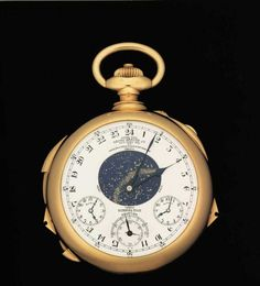 "Henry Graves ""supercomplication,""  by Patek Philippe, sold for 11 million at Sotheby's in December 1999. It's the most complicated watch ever created."
