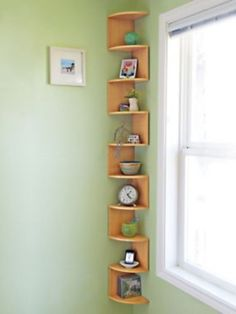45 Ideas to Decorate Your Corner Space with Unique Corner Shelf Corner Shelf Design, Diy Corner Shelf, Corner Wall Shelves, Tv Wall Design, Desk Shelves, Wall Mounted Shelves, Shelf Wall, Rock And Roll, Bedroom Furniture Redo