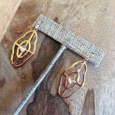 -Everyday Style- Gold Design with Moonstone Earrings by Hazel Smyth $125 #hazelsmyth #majdesigns #earrings #jewelry #moonstone #charlotte  www.meredithjackson.com