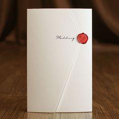 White Foil Modern Wedding Invitations – GA 9128 | ItsInvitation