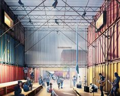pop brixton carl turner architects shipping container city london designboom