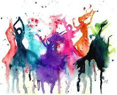 Dancing watercolors.