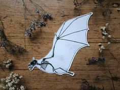 Bat Halloween Sticker  Black Decal for Party Planner Diary