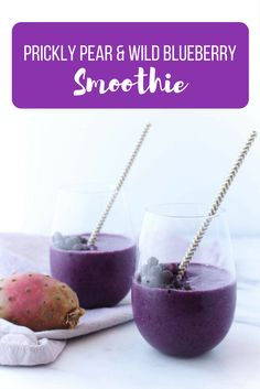 Prickly Pear & Wild Blueberry via RDelicious Kitchen @RD_Kitchen