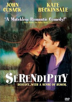 Serendipity (2001) ~ Kate Beckinsale, John Cusack, Jeremy Piven. A couple reunite years after the night they first met, fell in love, and separated, convinced that one day they'd end up together.