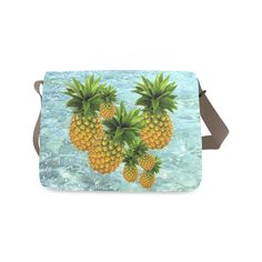 Pineapples Messenger Bag. FREE Shipping. #artsadd #bags #fruits