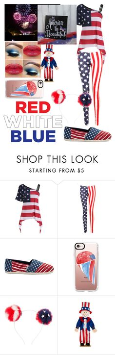 """4th of July"" by maniyah-shay ❤ liked on Polyvore featuring TOMS, Casetify and Charlotte Russe"