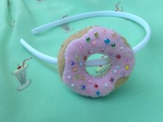 Items similar to Donut Dreams Headband on Etsy Halloween Party Costumes, Halloween Dress, Happy Halloween, Donut Birthday Parties, Donut Party, Donut Costume, Market Day Ideas, Diy Headband, Headbands