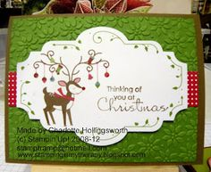Stampin' Up Christmas Card. Scentsational Season Bundle items including the stamp set and Holiday Collection Framelits Dies