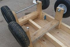 6 Wheel Garden Wagon : 5 Steps (with Pictures) - Instructables Lawn Tractor Trailer, Trailer Deck, Building A Chicken Run, Garden Wagon, Garden Cart, Chicken Coop Decor, Hand Cart, Stainless Steel Counters, Used Tires