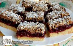 """I realise that I don't do very many""""bar cookies"""" on baking sheet. Sure, I have brownies and blondies, if you count those, but I think the world of bar cookies has a lot more to offer than the basics. The reason I don't do more of these is . Cherry Recipes, My Recipes, Cookie Recipes, Dessert Recipes, Favorite Recipes, Fall Recipes, Yummy Cookies, Yummy Treats, Sweet Treats"""