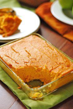 Sweet Potato and Apple Kugel (2 med sweet potatoes, 2 granny smith apples, 1 lemon, 1/4 c honey, cinnamon, nutmeg, salt)