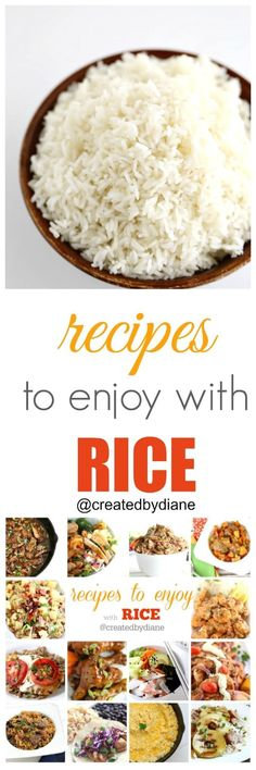 rice is a staple and it's great to have this collection of recipes that will go with all your rice dishes on hand